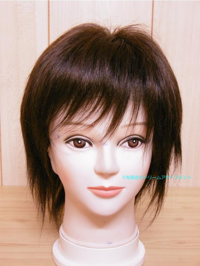 自毛で作ったヘアピースでかつら作成