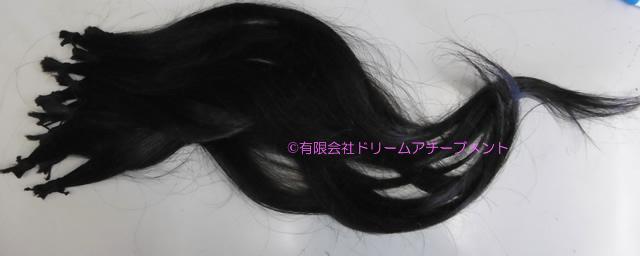 自分の髪(自毛・地毛)で作る部分かつらキューティクル付き