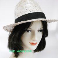 帽子用人毛付け毛キャップセミロング