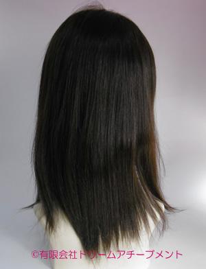 自毛かつら製作例