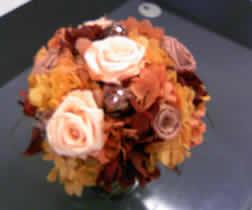 秋のアレンジを作りました