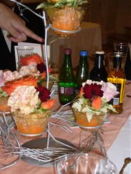 テーブルのお花も華やか